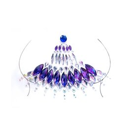 LGA Lyra Adhesive Body Jewel Sticker Purple & Clear