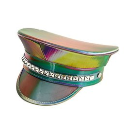 FPL Rainbow Military Hat with Pyramid Studs