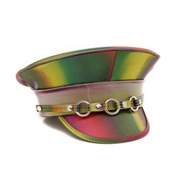 FPL Rainbow Police Hat with 3 O rings  ADJ