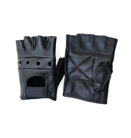 KO Leather Fingerless Driving Gloves