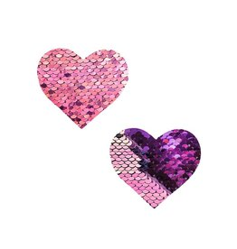 NN My Lil Pony Pink to Purple Flip Sequin I Heart U Nipztix Pasties
