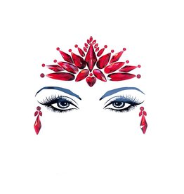 NN Demonica Red Crystal Jewel Face Sticker