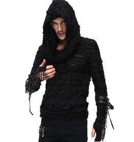 WF Punk Cowl Neck Distressed Top