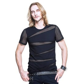 WF T Shirt with Fishnet Cutouts