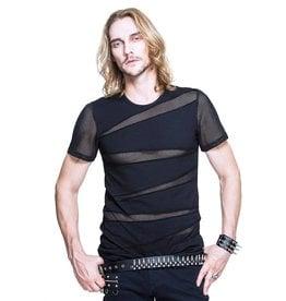 WF T Shirt with Fishnet Cutouts
