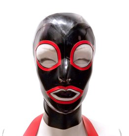 LNM Full Face Latex Hood with Trimmed Wide Eyes