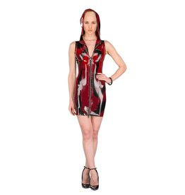 PMI Marbled Latex Hoodie Dress