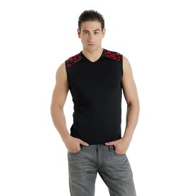 MOD Vest T Shirt with Skull Trim