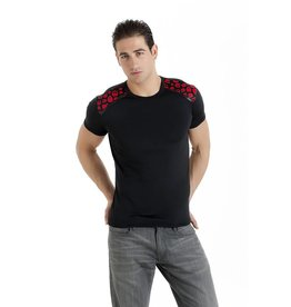 MOD T Shirt with Skull Print Trim