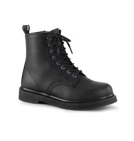 PLS Bolt 8 Eyelet Lace Up Vegan Combat Boot