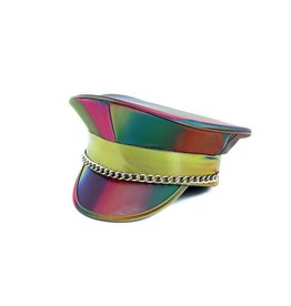 FPL Prism Police Hat with Chain Rainbow