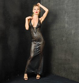 MOD Wetlook & Mesh Wave Gown