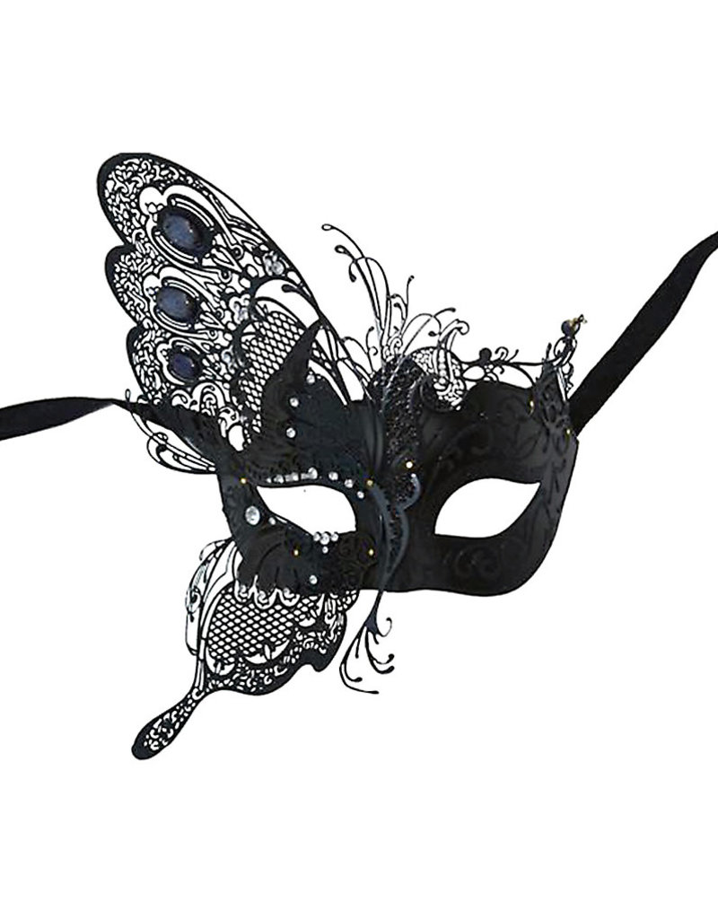 KBW Venetian Butterfly Wing Mask with Crystals