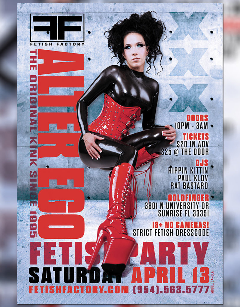 FF Alter Ego Fetish Party - April 13th
