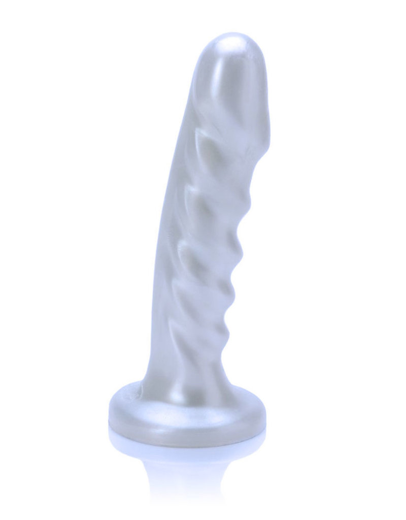 ELD Tantus Echo Silicone Vibrating Dildo -  White Pearl
