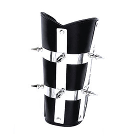 FPL Leather Armband with Stripes And Spikes
