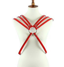 FPL 8 Strap Leather Ladies Chest Harness