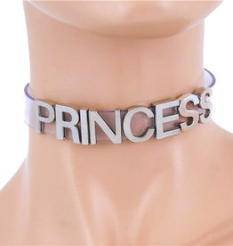 FPL Vinyl Princess Choker with Silver Lettering