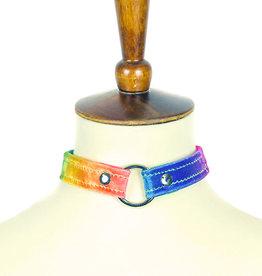 FPL Rainbow Velvet O-Ring Choker
