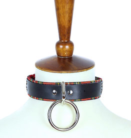 FPL Plaid & Leather Choker with Ring