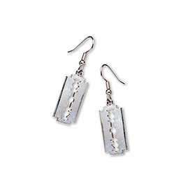 SOL Antique Silver Razor Blade Earrings