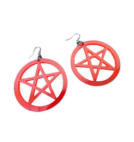 SOL Acrylic Pentagram Earrings
