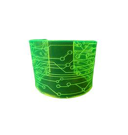 SOL Florescent Green Acrylic Bracelet PCB Design