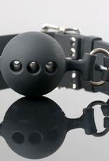 SMT Breathable Silicone Ball Gag Black ADJ