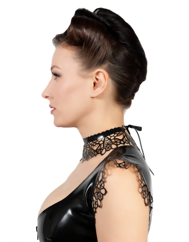 pd Latex Lace Neck Band with Scalloped Edge
