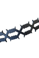 SOL Laser Cut Leather Barb Wire Choker