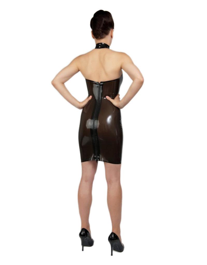 pd Halter Neck Dress with Semi Transparent Panels