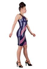 pd Latex Arrow Dress with Semi Transparent Panels