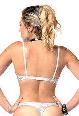 PC Annabelle Silver Holographic Open Cup Bra
