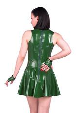 pd Latex Flare Mini Dress