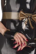 pd Latex Belt with Decorative Bow & Snap Closure
