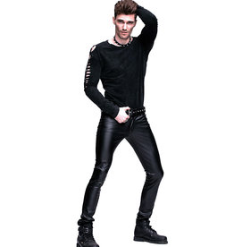 WF Mens Punk Matt PVC Slim Fit Pants