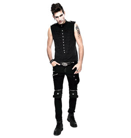 WF Men's Military Style Vest Top with Button Design
