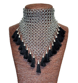 WF Chainmail Pointed Choker with Tassels
