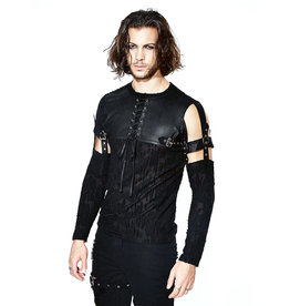 WF Men's Distressed Gothic Top with Detachable Sleeves