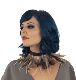 ZFP Night Owl Goose Feather Natural Choker