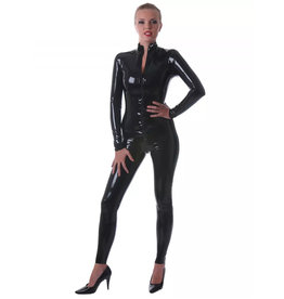 HON Classic Latex Catsuit With Front 2 Way Zip