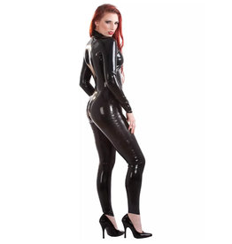 HON Ladies Latex Front Zip Catsuit