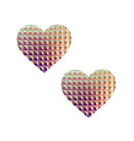 NN Furiosa Raised Squares Heart Nipztix