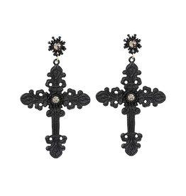 SIL Gothic Cross Earrings