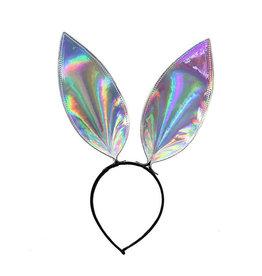 FPL Iridescent Silver Rainbow Bunny Ears