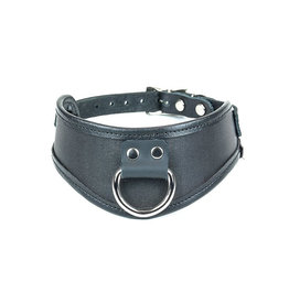 FPL Leather Trim D Ring Choker