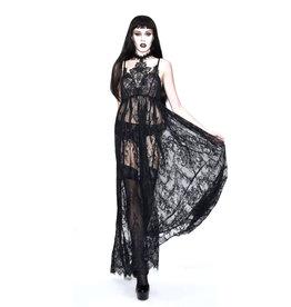 WF Gothic Mesh Lace Maxi Dress
