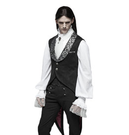 WF Gothic Swallow Tail Vest with Metallic Brocade Collar