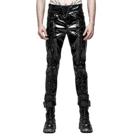WF Mens  Patent Lace Up Pants