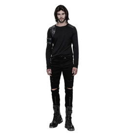 WF Mens Punk Long Sleeve Shirt with Sleeve Harness